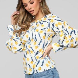 Fashion Nova Long Sleeve Blouse